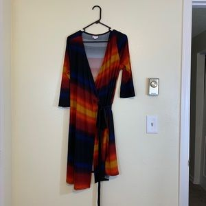 Lularoe Sunset Wrap Dress - L